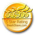FreshShare.com awarded Inside their highest rating of five stars.